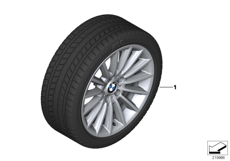 Wint.wheel w.tyre radial spoke 237 -18