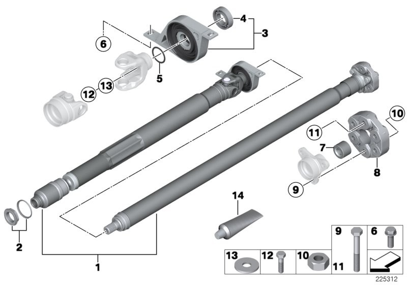 Drive shaft, single components