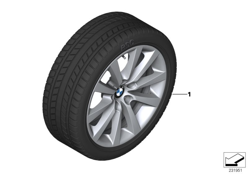 Winter wheel with tyre V-spoke 328 - 18