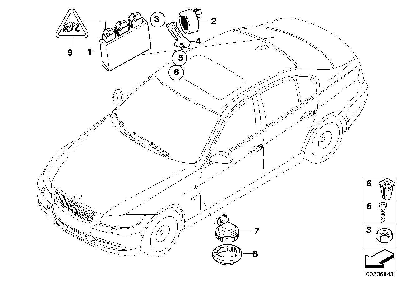 Afstandssystemen, Snelheidsregeling BMW E90N sedan 51036