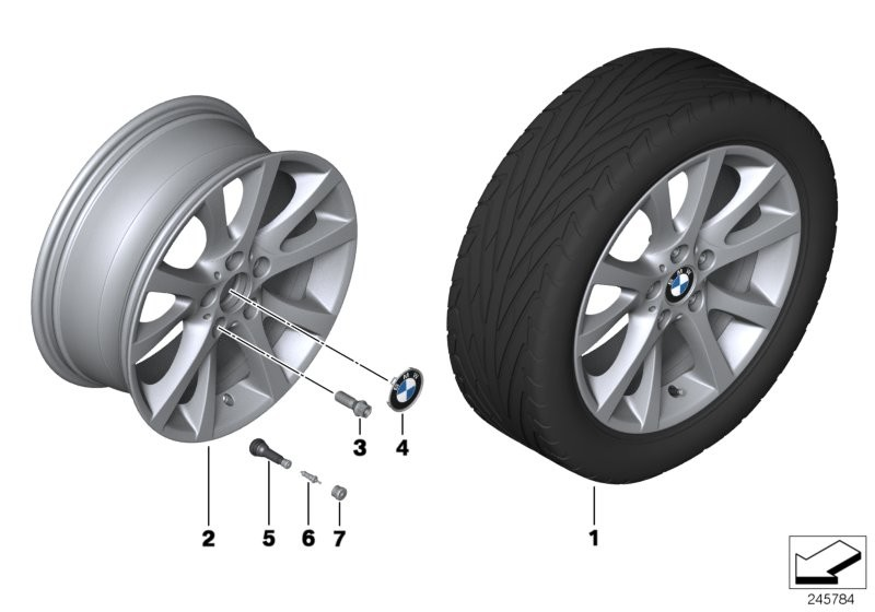 BMW LA wheel, V spoke 372
