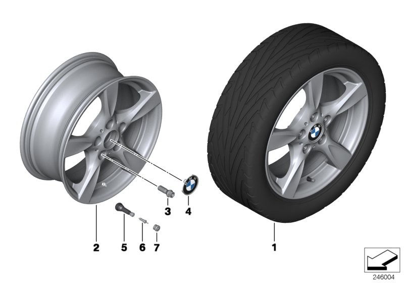 BMW LA wheel, star spoke 371