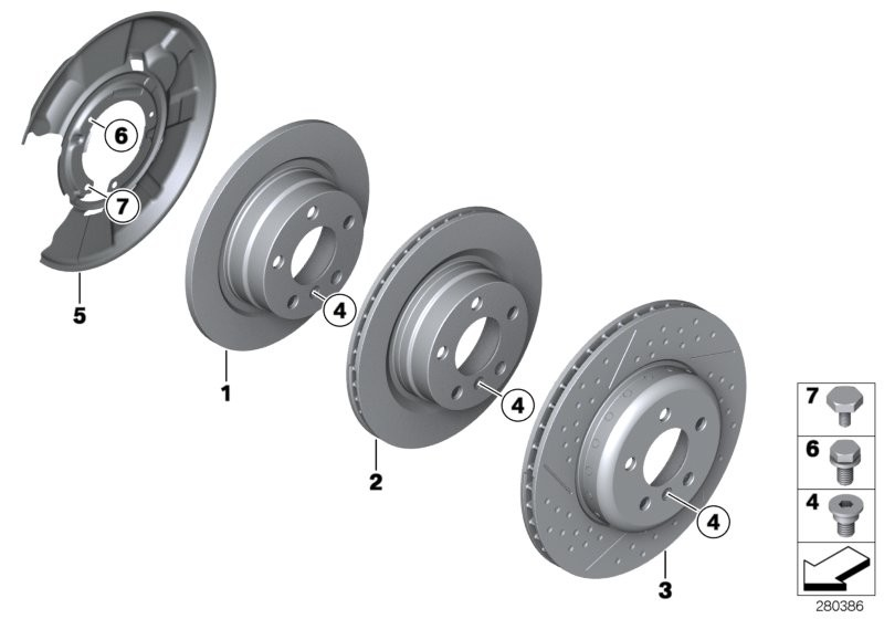 Rear wheel brake / brake disc