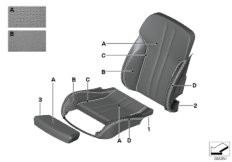Seat back storage pocket, BMW Lines