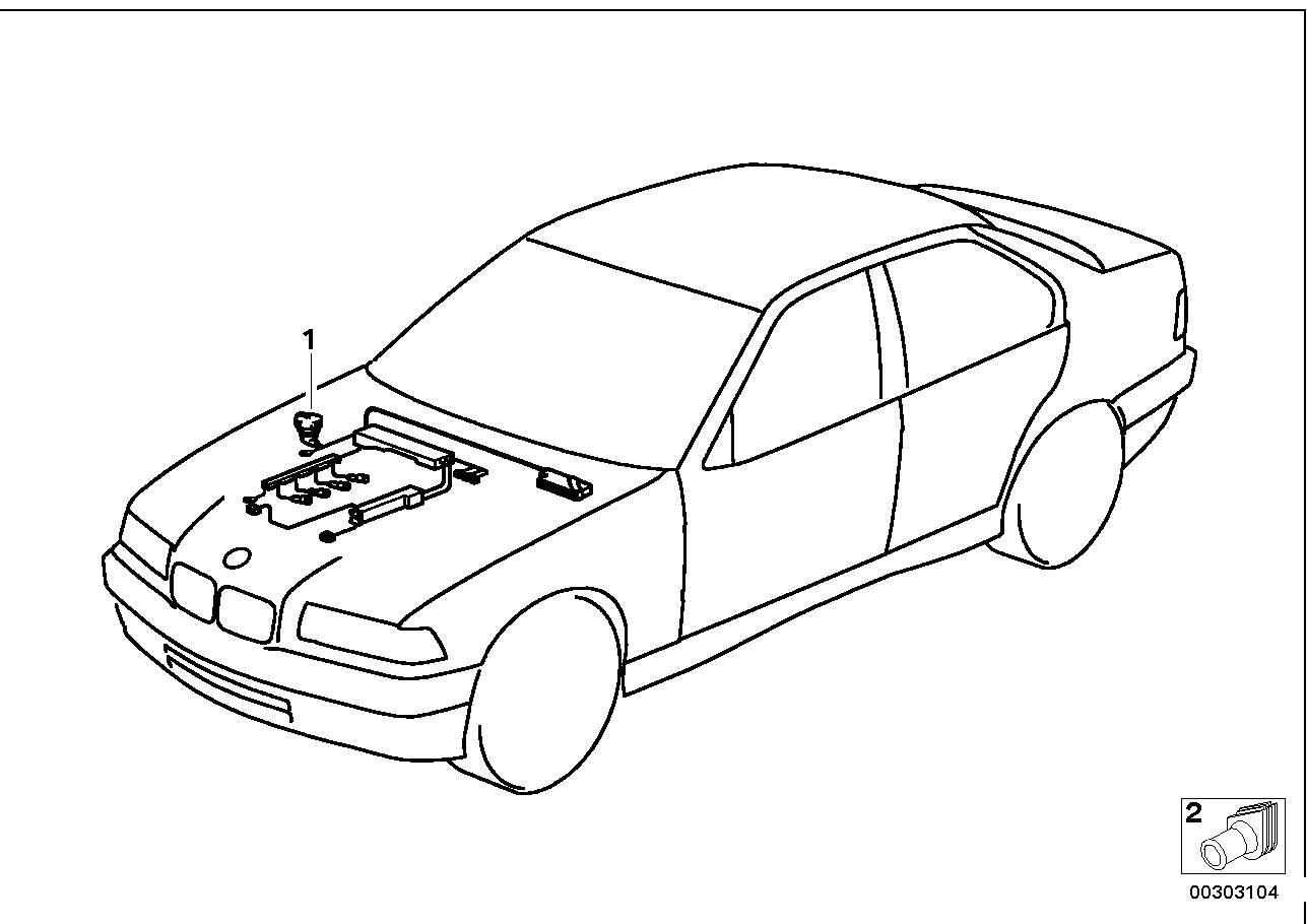 Engine Electrical System BMW E36 sedan 47503