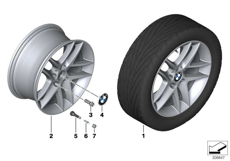 BMW LA wheel, double spoke 496