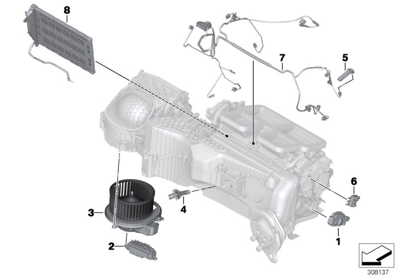 Electric parts for AC unit