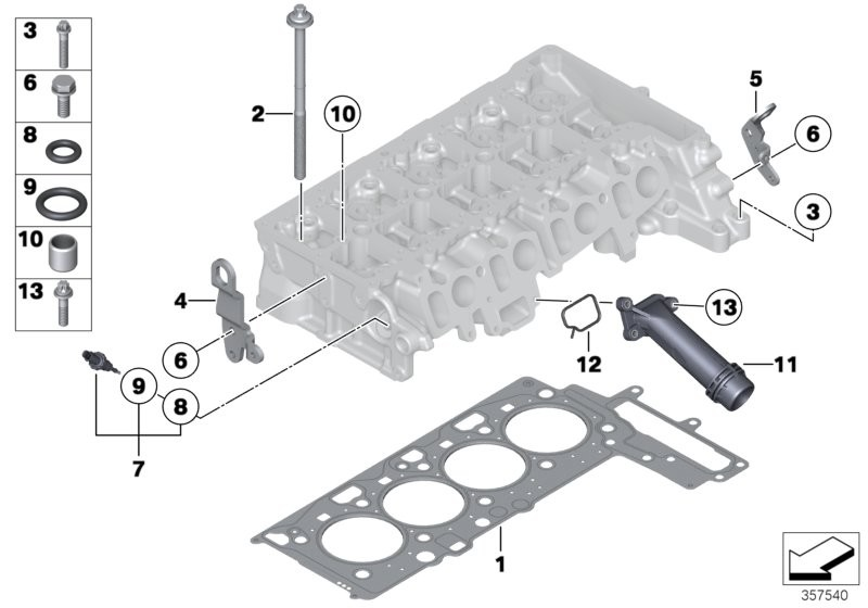 Cylinder head attached parts