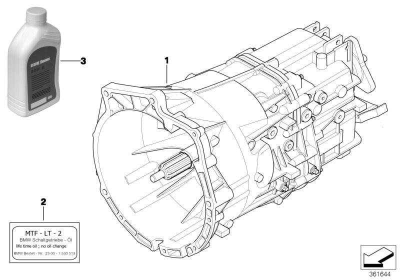 Manual Transmission BMW E39 sedan 47540