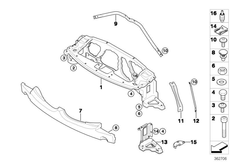 Pedals BMW F56 3-doors 56283