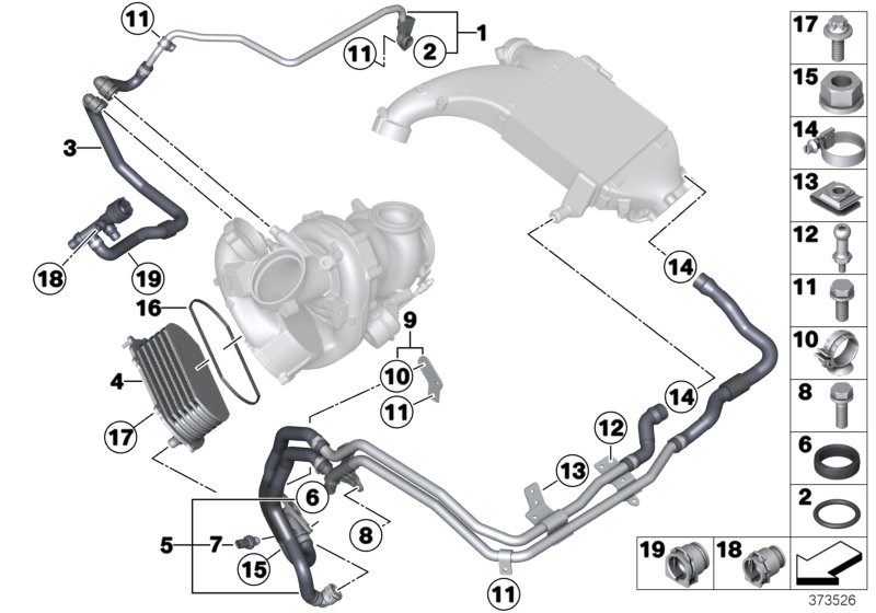 Cooling system-turbocharger / charge air