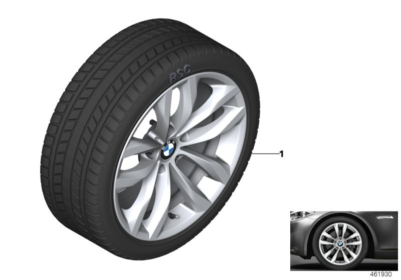 Wint.wheel w.tyre double spoke 609 -18