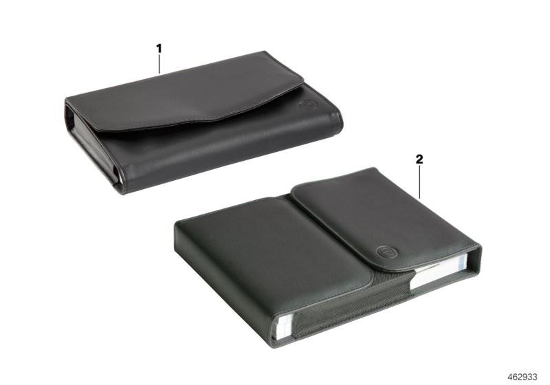 Vehicle document case BMW with embossing