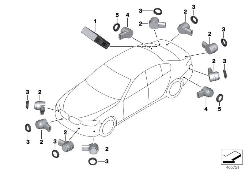 Sistemas de distancia, Regul.d.velocidad BMW G30 sedan 58804