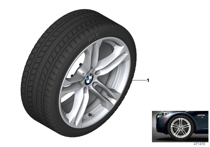 Wint.wheel w.tyre M dble sp. 613M - 18
