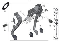BMW action cam bracket inner