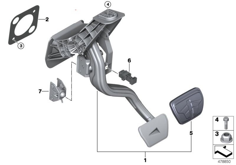 Pedal assembly, automatic transmission