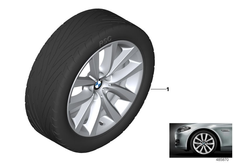 BMW LA wheel, V spoke 331 - 19''