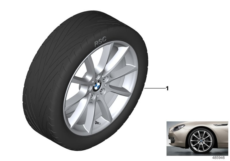 BMW LA wheel, V-spoke 281 - 18