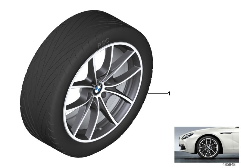BMW LA wheel V-spoke 356 - 20