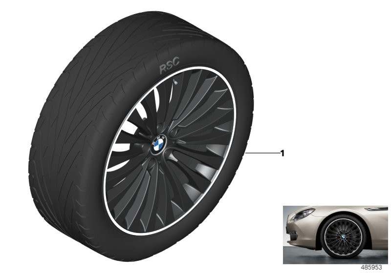 BMW LA wheel multi spoke 410 - 20