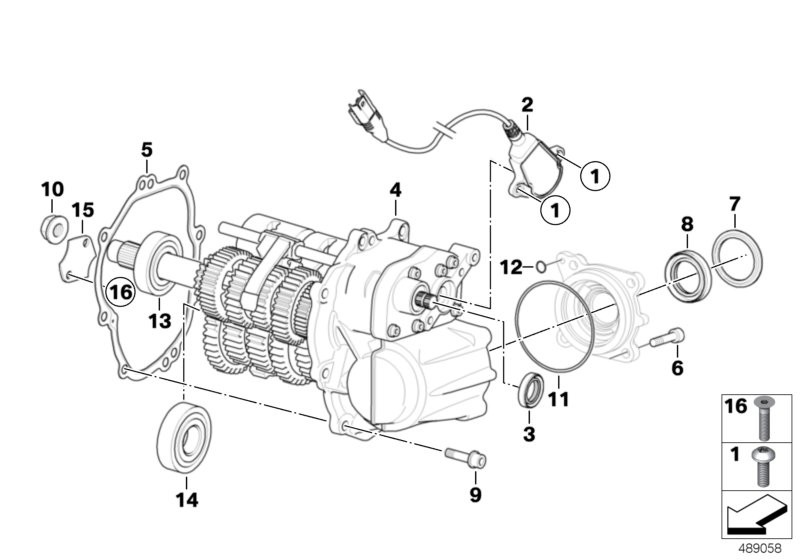 Manual gearbox BMW K40 without 51575