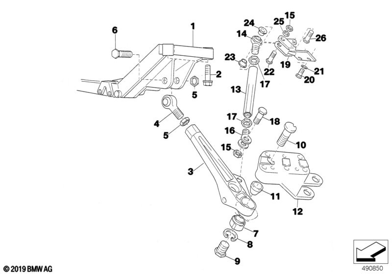 Front axle support