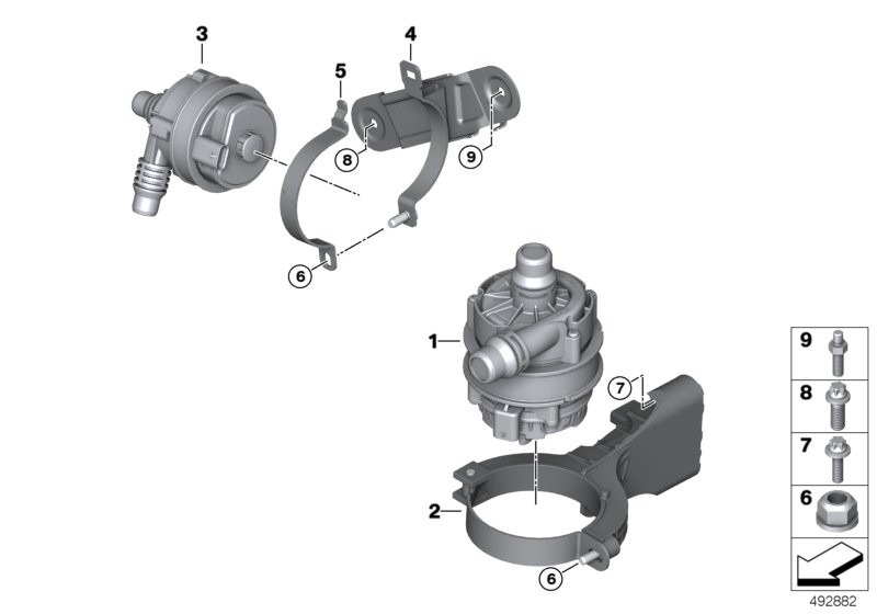 Electric water pump / mounting