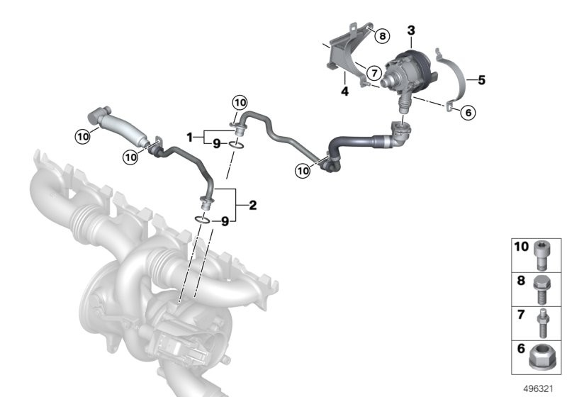 Cooling system, turbocharger