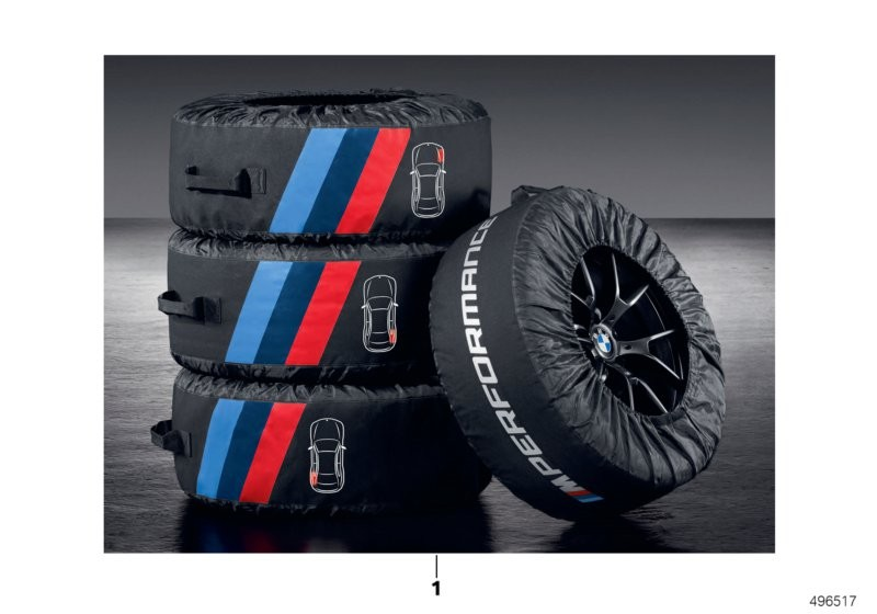 M Performance tyre bags