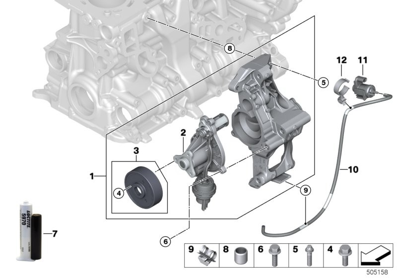 Cooling system-coolant pump