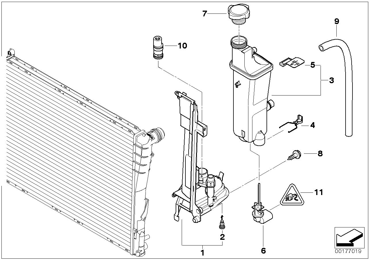 Depósito compensação/placa montagem BMW E46 turismo 47665