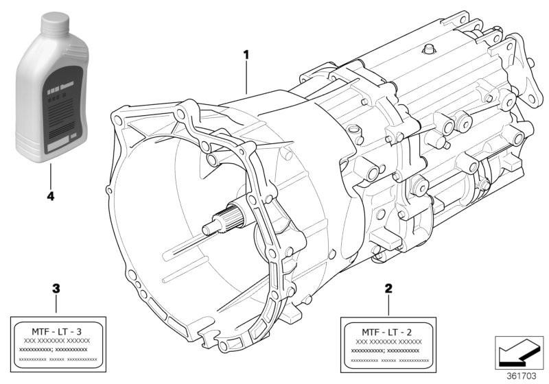 Caixa velocidades manual GS6-37BZ/DZ BMW E90 sedan/fechado